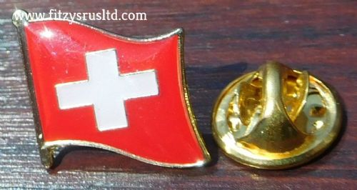 Switzerland Swiss Country Flag Lapel Hat Cap Tie Pin Badge Brooch
